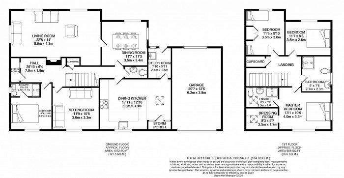 Floorplans For Birchwood Drive, Lower Peover